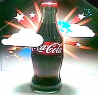 Coke 3D Hologram Bottle